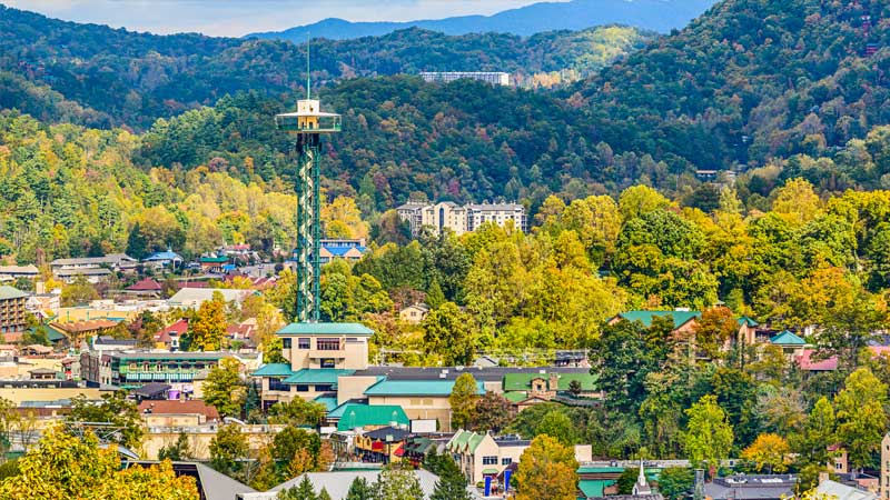 photo of downtown Gatlinburg