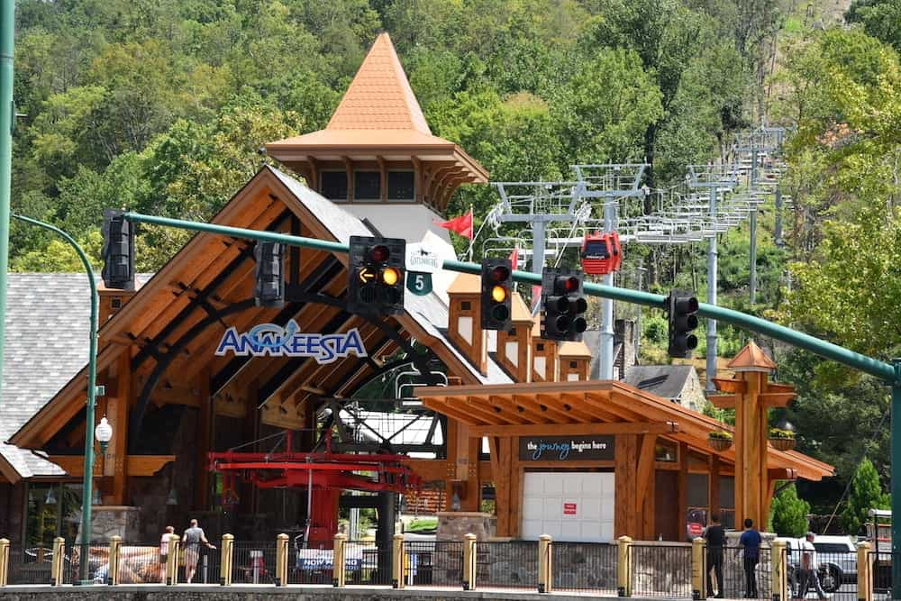 The Chondola Station for Anakeesta in Gatlinburg TN.