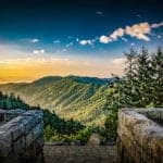 Smoky Mountain sunrise at Newfound Gap