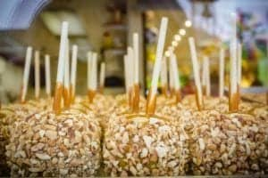 candy apples at Aunt Mahalias Candies